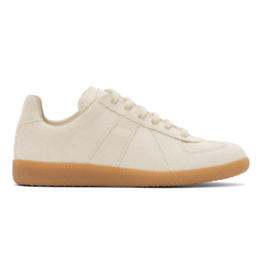 MAISON MARGIELA Off-White Linen Replica Sneakers