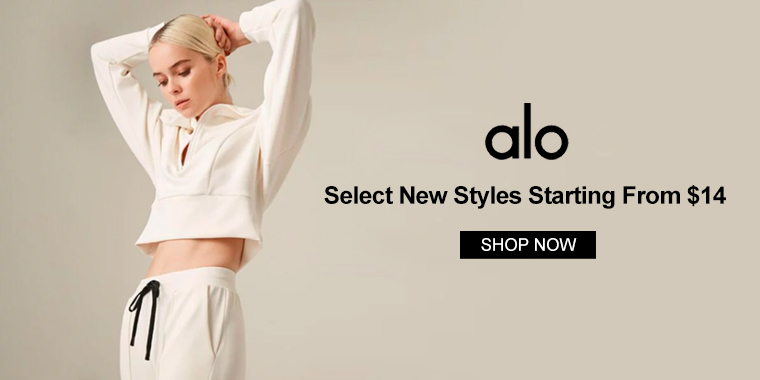 Alo Yoga: Select New Styles Starting From $14