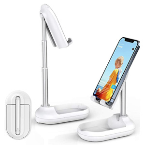 Licheers Cell Phone Stand, Angle Height Adjustable Phone Stand Holder for Desk