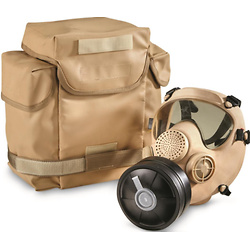 French Military Surplus ARF-A Gas Mask with Bag and Filter