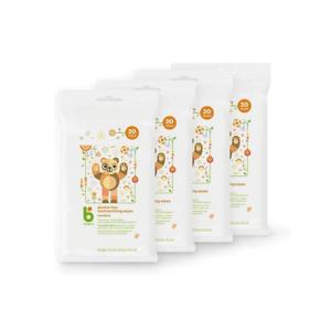 Babyganics Alcohol-Free Hand Sanitizer Wipes, Mandarin, 20 ct, 4 Pack