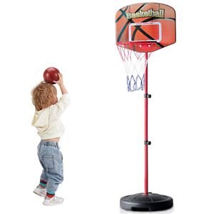 Toddler Mini Indoor Basketball Hoop with Stand Adjustable Height