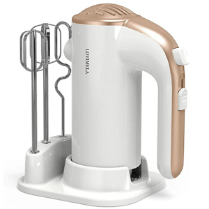 Hand Mixer Electric 300W 5 Speeds Lightweight Powerful Handheld Cake Baking Mixer