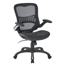 Office Star Products - Mesh Chair - Black
