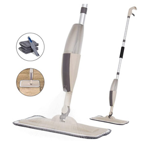 Decorus 可喷水拖把 附带2个替换拖布片+清洁刮板
