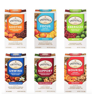 Twinings of London Daily Wellness Tea, Variety Pack, Flavored Herbal & Green Tea