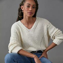 Pilcro Marla V-Neck Sweater