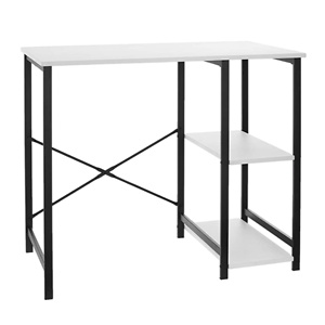 Amazon Basics Classic, Home Office Computer Desk With Shelves