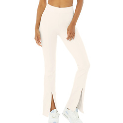 高腰象牙白长裤