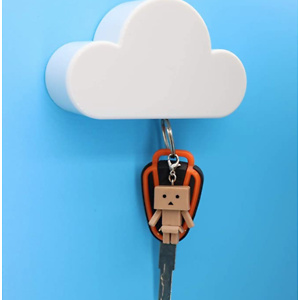White Cloud Magnetic Key Holder for Wall
