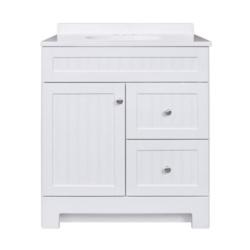 Ellenbee 30英寸白色浴室洗手盆组合