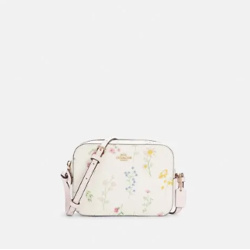 Mini Camera Bag With Spaced Wildflower Print