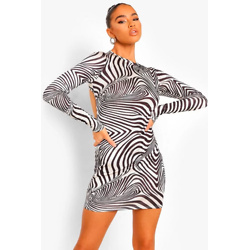 Printed Disco Mini Dress