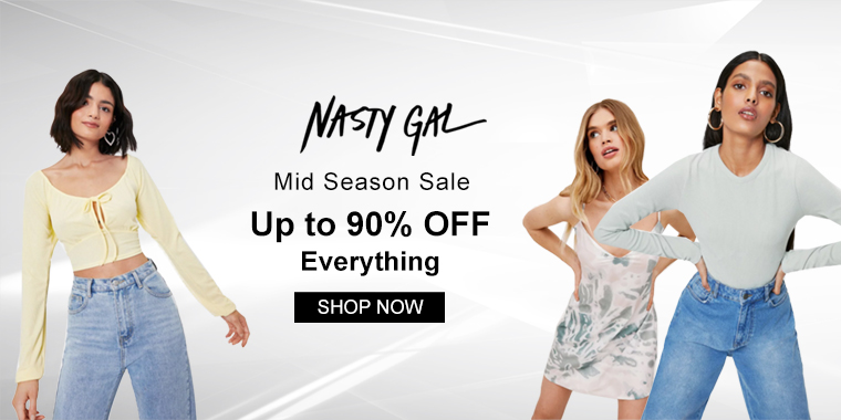 Nasty Gal US: Mid Season Sale Up to 90% OFF Everything