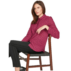 Dalloway Organic Cotton Spotty Blouse