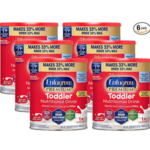 Enfamil Enfagrow Premium Toddler Nutritional Drink, 32 oz Powder Can (Pack of 6)