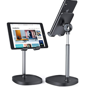 Cell Phone Stand, Angle Height Adjustable LISEN Phone Stand for Desk