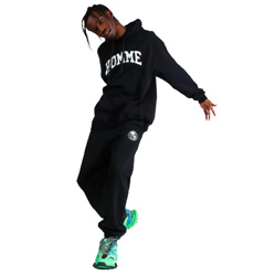Oversized Homme Print Hooded Tracksuit