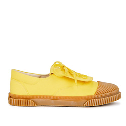 Yellow logo-embroidered canvas sneakers