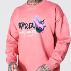 Oversized Worldwide Dove Print Sweatshirt