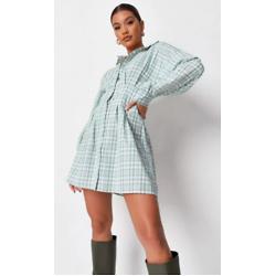 清新格纹衬衫裙
