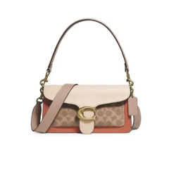 Coach Tabby Colorblock Signature Coated Canvas & Leather Shoulder Bag