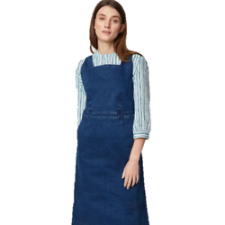 Rosa Organic Cotton Denim Pinafore Dress