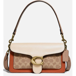 Coach Women's Coated Canvas Signature Tabby Shoulder Bag 26 - Tan Ivory