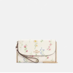 Gemma Clutch Crossbody With Spaced Wildflower Print