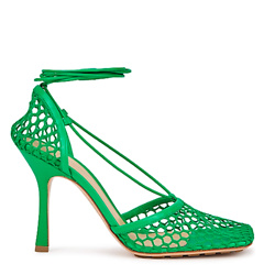 Stretch 90 green mesh sandals