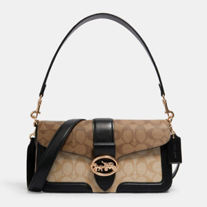 Coach Georgie Shoulder Bag In Blocked Signature Canvas