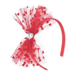 Girls Heart Bow Headband
