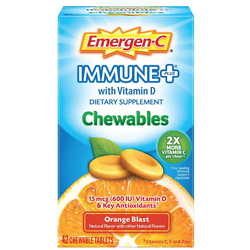 Emergen-C Immune+ Chewables 1000mg Vitamin C with Vitamin D Tablet