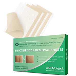 Aroamas, Silicone Scar Removal Sheets - for Keloid