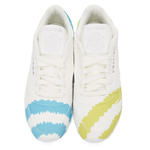 OLLINA STRADA White Reebok Edition 'Call Mom' Classic Leather Sneakers