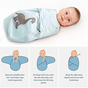 Bedsure Swaddle Blanket Baby Girl Boy, Easy Adjustable, 3 Pack Newborn Babies