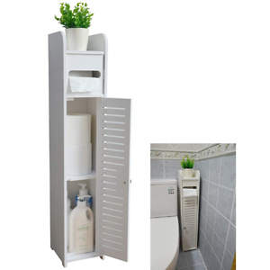 Small Bathroom Storage Corner Floor Cabinet with Doors and Shelves
