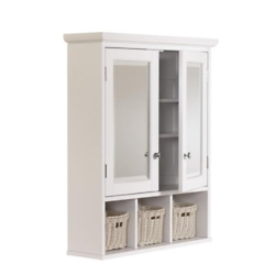 allen + roth 24.75英寸x 30.25英寸带有镜子的矩形柜
