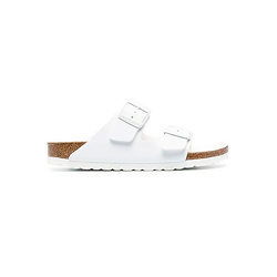 Birkenstock Arizona White Leather Slides
