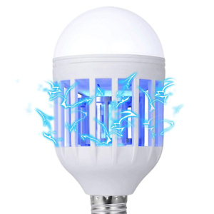 GLOUE Bug Zapper Light Bulb, 2 in 1 Mosquito Killer Lamp