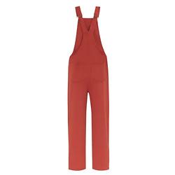 岩浆红背带裤