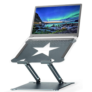 Luxby Laptop Stand, Aluminum Foldable Computer Stand with Laptop Cooling Pad
