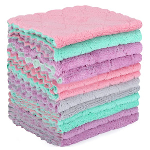 Microfiber Cleaning Cloth - 12 Pack Kitchen Towels