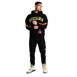 Official Man Hooded Tracksuit With Fire Print