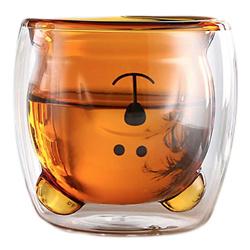 Cute Mugs Bear Tea Cup Coffee Couple Glass Mugs