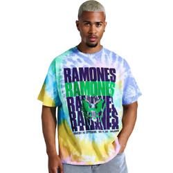 OVERSIZED RAMONES TIE DYE LICENSE T-SHIRT