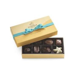 金色礼盒八颗巧克力