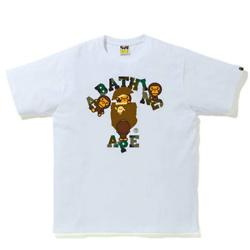 BAPE 1st迷彩学院T恤