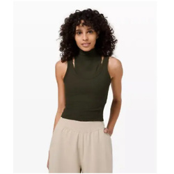LA Mock Neck Layered Crop Tank