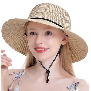 女士防晒草帽